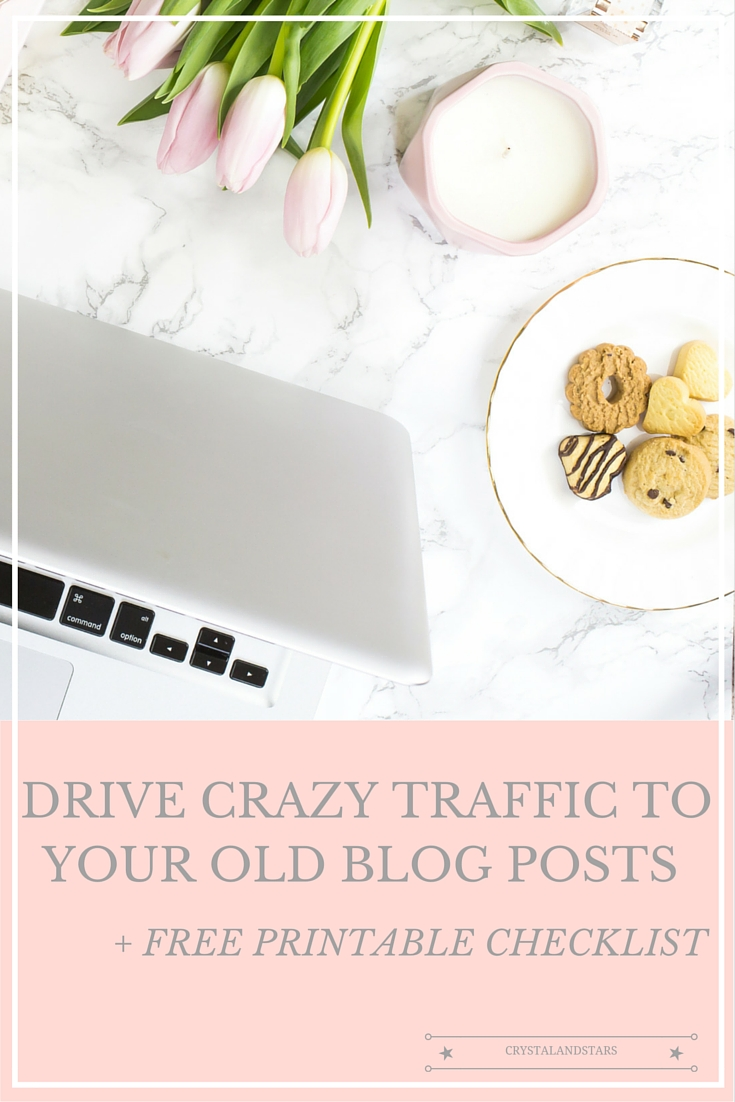 drive crazy traffic to old blog post